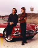 Route 66 Actors Posed with Red Car