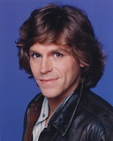 Jeff Conaway Portrait in Blue Background