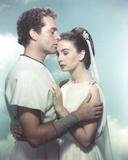 Richard Burton White Background Couple Portrait