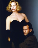 Moonlighting Posed in Black Dress With Bruce Willis