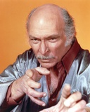 Lee Van Cleef Portrait in Grey Orange Background