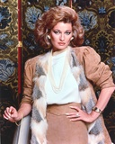Stephanie Beacham Posed in a Portrait wearing Elegant Dress