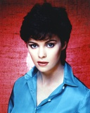 Sheena Easton wearing a Blue Long Sleeves in a Close Up Portrait