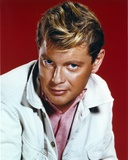 Troy Donahue Red Background Close Up Portrait