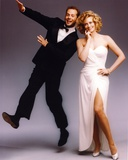 Moonlighting Posed in White Dress With Bruce Willis