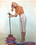 Shirley Knight posed with a Staff