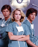 Shelley Hack Posed in Green Scrub Suit with Mask