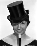 Shirley MacLaine Portrait in Black Top Hat and Black Shoulder Dress