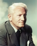 Spencer Tracy In Black Coat and Tie