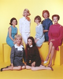 Peyton Place Ladies Cast Portrait in Formal Dress with Yellow Background