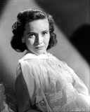 Teresa Wright Posed in See Through Dress