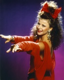 Tracey Ullman Portrait in Red Dress