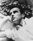 Montgomery Clift Lying on a Floor wearing White Sleeves