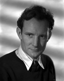 Trevor Howard Posed in Black Suit With White Collar