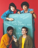Welcome Back Kotter Group Picture in a Black Board