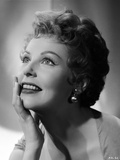 Arlene Dahl posed with Hand on Chin