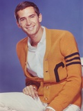 Anthony Perkins posed in Yellow Coat
