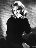 Anne Francis Thinking Pose in Black Sweater