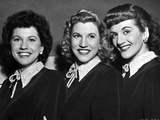 Andrew Sisters on Collar Top Portrait