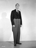 Arthur Treacher posed in Black Suit