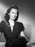 Ann Dvorak on Dark Dress and sitting Portrait