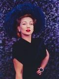 Ann Sothern standing Pose in Black Dress Portrait