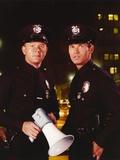 Adam-12 Holding Megaphone in Police Uniform