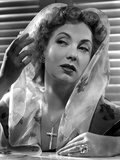 Ann Sothern wearing a Veil with a Floral Design