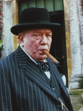 Albert Finney in Formal Outfit wearing Hat with Cigar Portrait