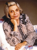 Anne Bancroft Pose in Floral Dress sitting on Chair