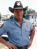 Alan Autry Posed in Police Outfit