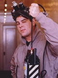 Dan Aykroyd wearing Grey Coat with Goggles