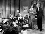 Book Bell Movie Cast Members in Living Room Scene Excerpt from Film