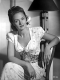 Donna Reed on Printed Dress