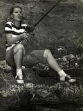Barbara Bel-Geddes on Fishing