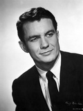 Cliff Robertson in Black with White Background