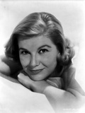 Barbara Bel-Geddes Leaning and smiling