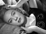 Audrey Totter Lying with Left Hand on Head