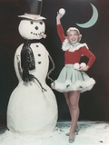 Dinah Shore in Christmas Outfit Portrait