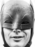 Close Up Portrait of Batman in Black and White