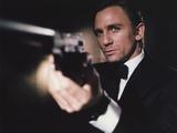 Daniel Craig Firing Pistol in Black Tuxedo