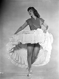 Dinah Shore Dancing in White Dress