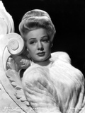 Betty Hutton on a Fluffy Top and Leaning