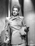 Ann Sheridan Leaning on the Chair  wearing a Coat Dress