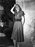 Barbara Bel-Geddes on a Dress and posed
