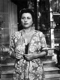 Anna Magnani wearing a Floral Wraparound Dress