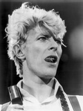 David Bowie Close Up Portrait Showing His Tongue