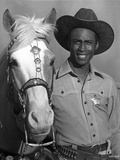 Cleavon Little Posed in Cowboy Outfit With Horse