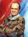 Bob Newhart Posed with Arms Crossed wearing Sweater Portrait