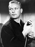 Aldo Ray Posed in Black Suit